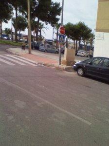 Acera paso de peatones en Vícar